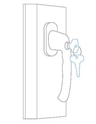 Ручка с ключом