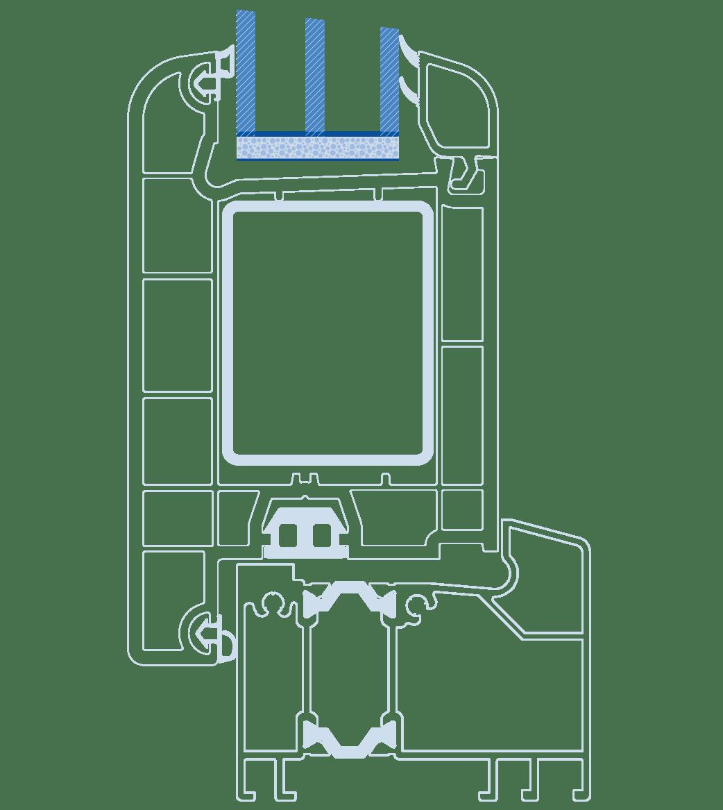 схема Віконда Термо склопакет