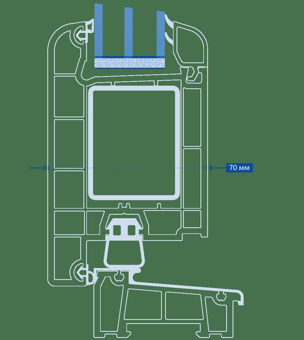 схема двері Віконда Стандарт plus