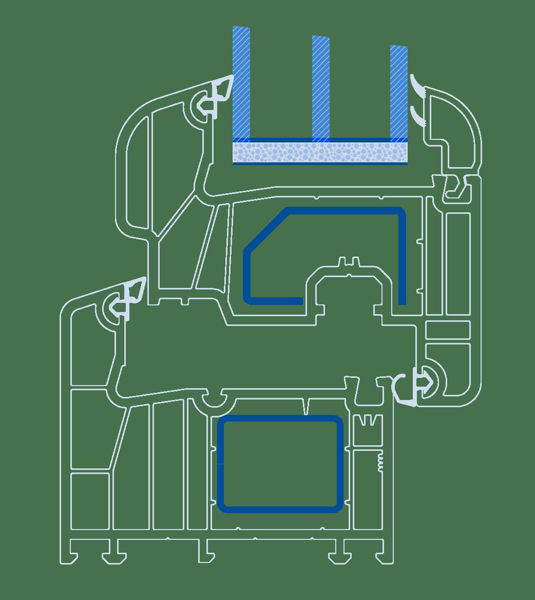 схема профілю Віконда Котедж