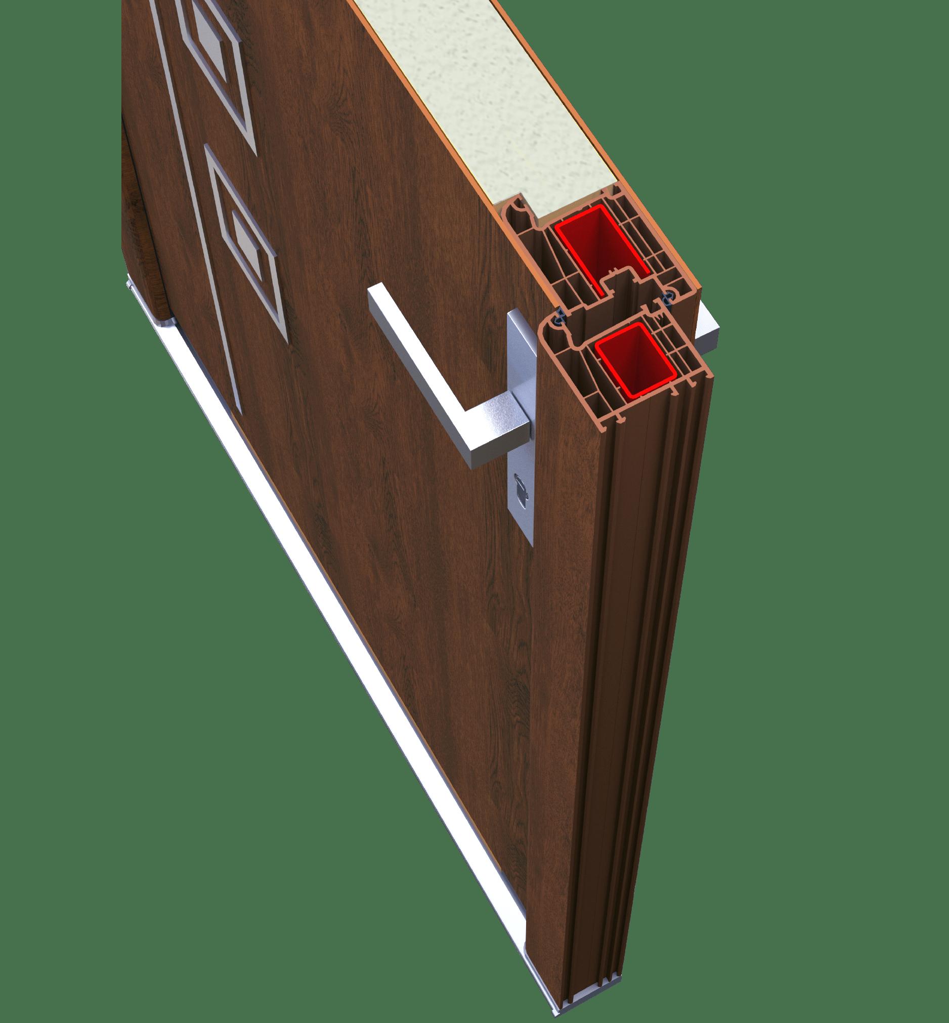 Кутик дверей з HPL панелями