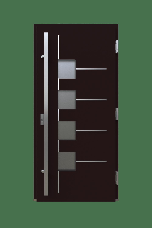 Двері з HPL панелями модель квадрат